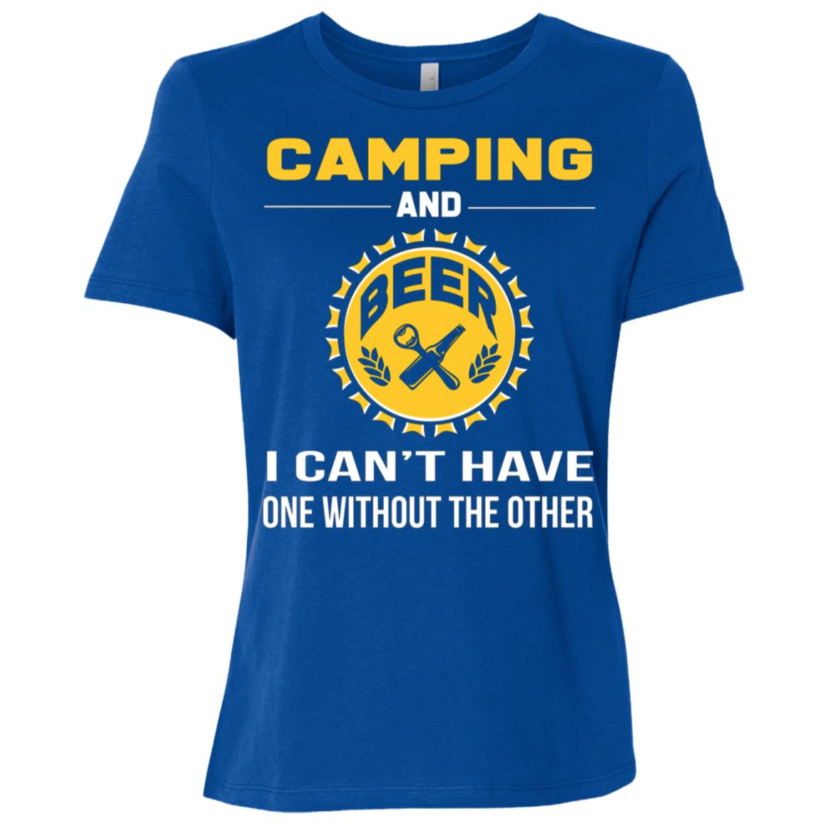 Funny Camping Girf For Day Drinking Beer Women Short Sleeve T-Shirt