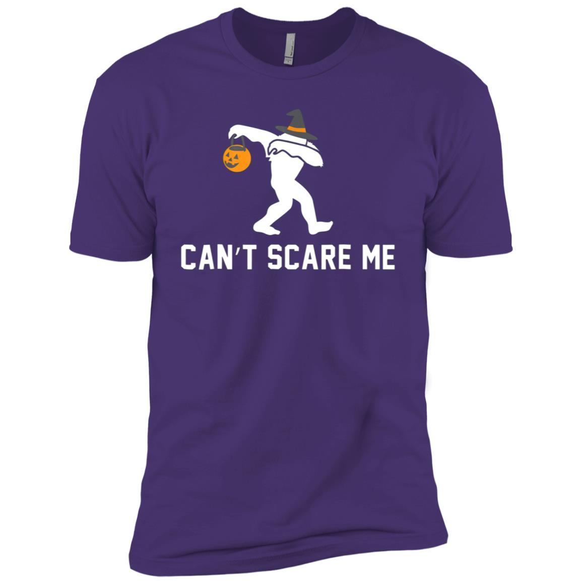 Halloween Dabbing Bigfoot Cant Scare Me Gift Men Short Sleeve T-Shirt