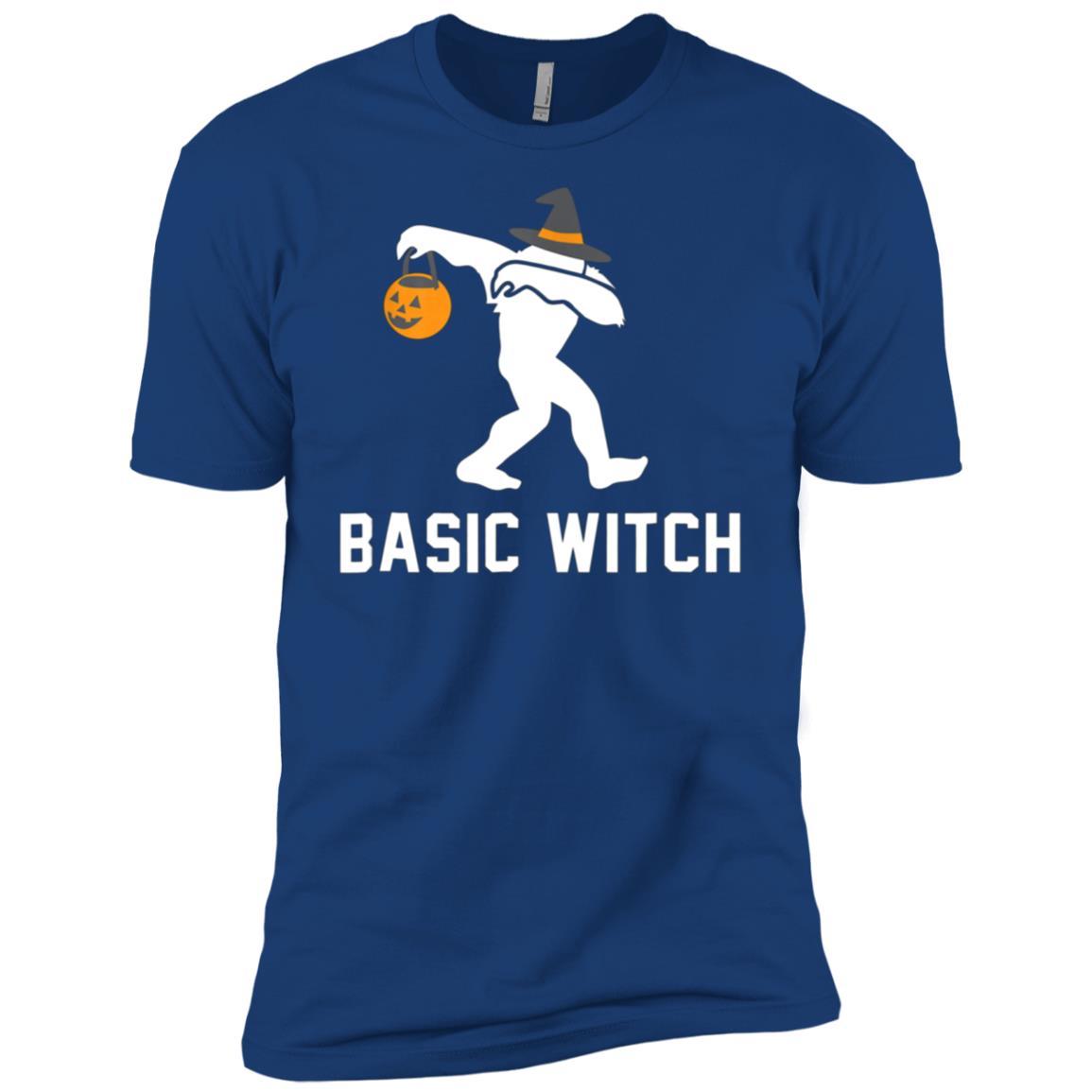Halloween Dabbing Bigfoot Basic Witch Gift Men Short Sleeve T-Shirt