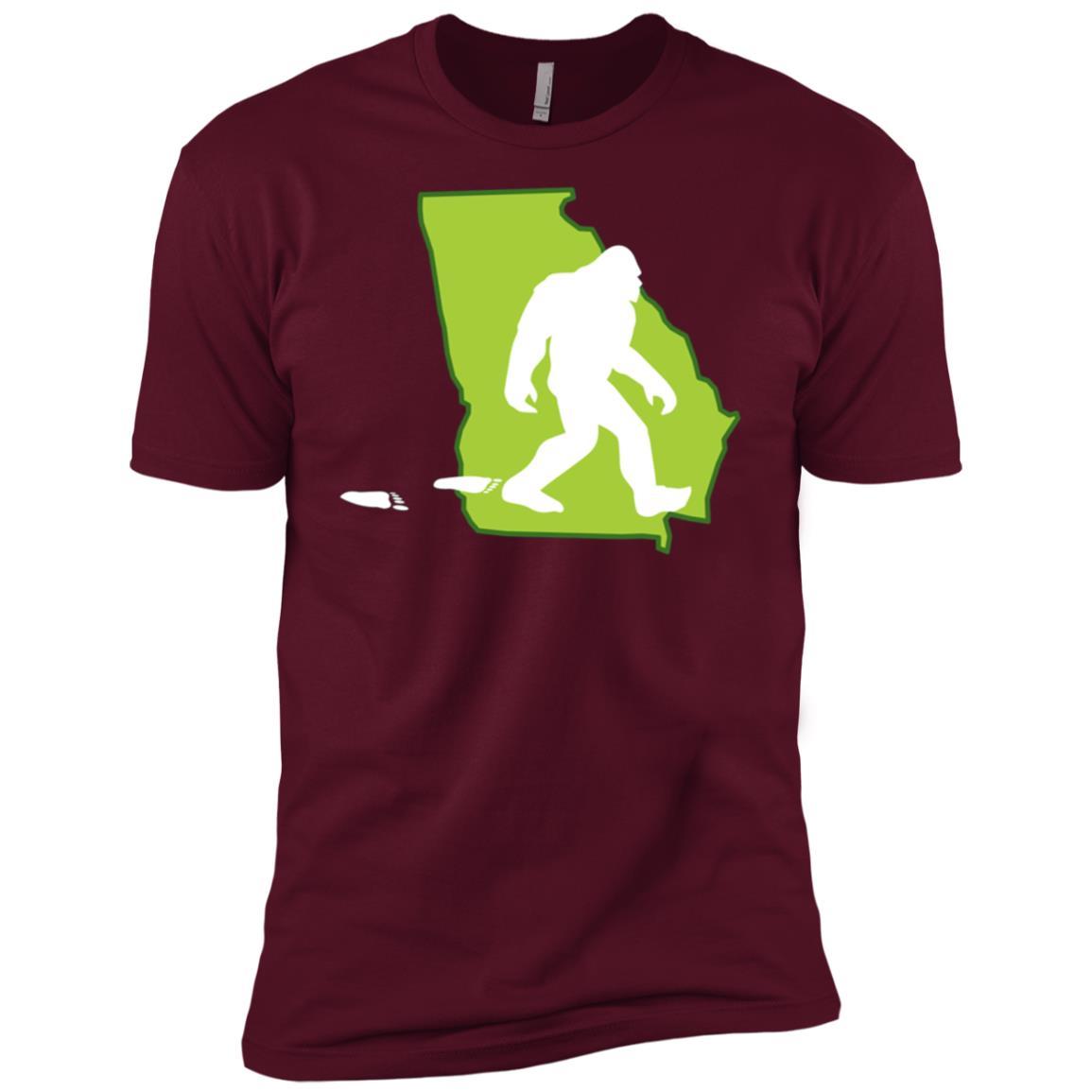 Georgia State Bigfoot Hunter Men Short Sleeve T-Shirt