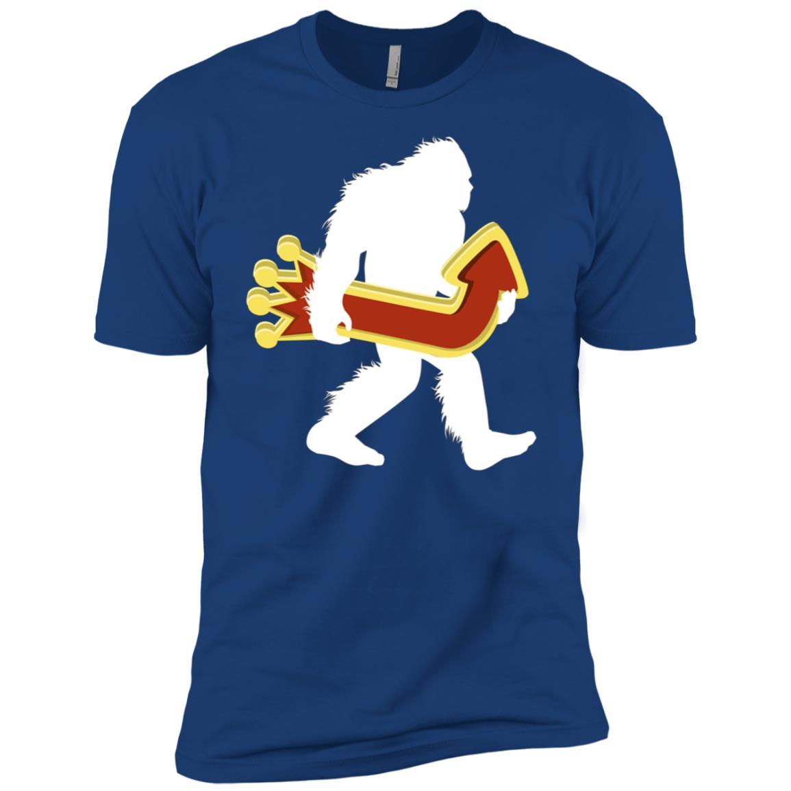 Gambling Bigfoot Carrying Casino Arrow Men Short Sleeve T-Shirt