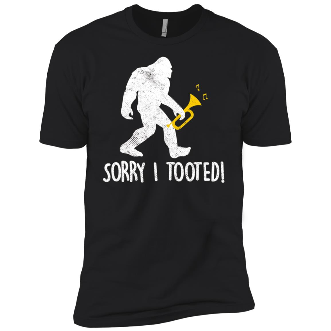 Funny Trumpet Player Gift Sorry I Tooted Bigfoot Men Short Sleeve T-Shirt