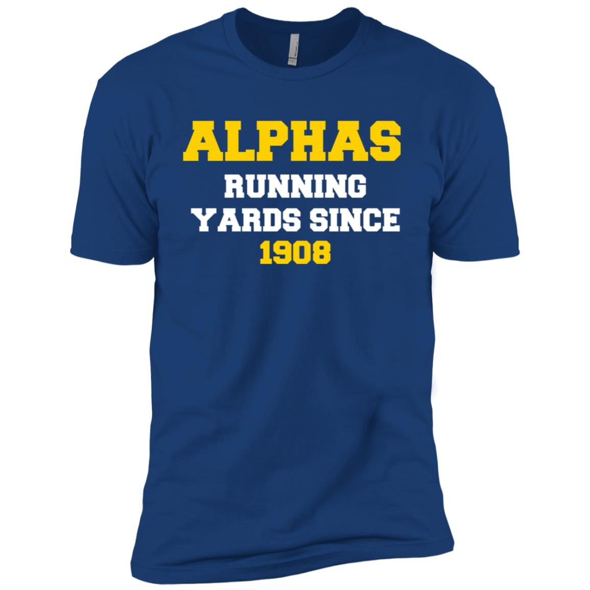 A Fraternity Phi A Running Yards Since 1908 Men Short Sleeve T-Shirt