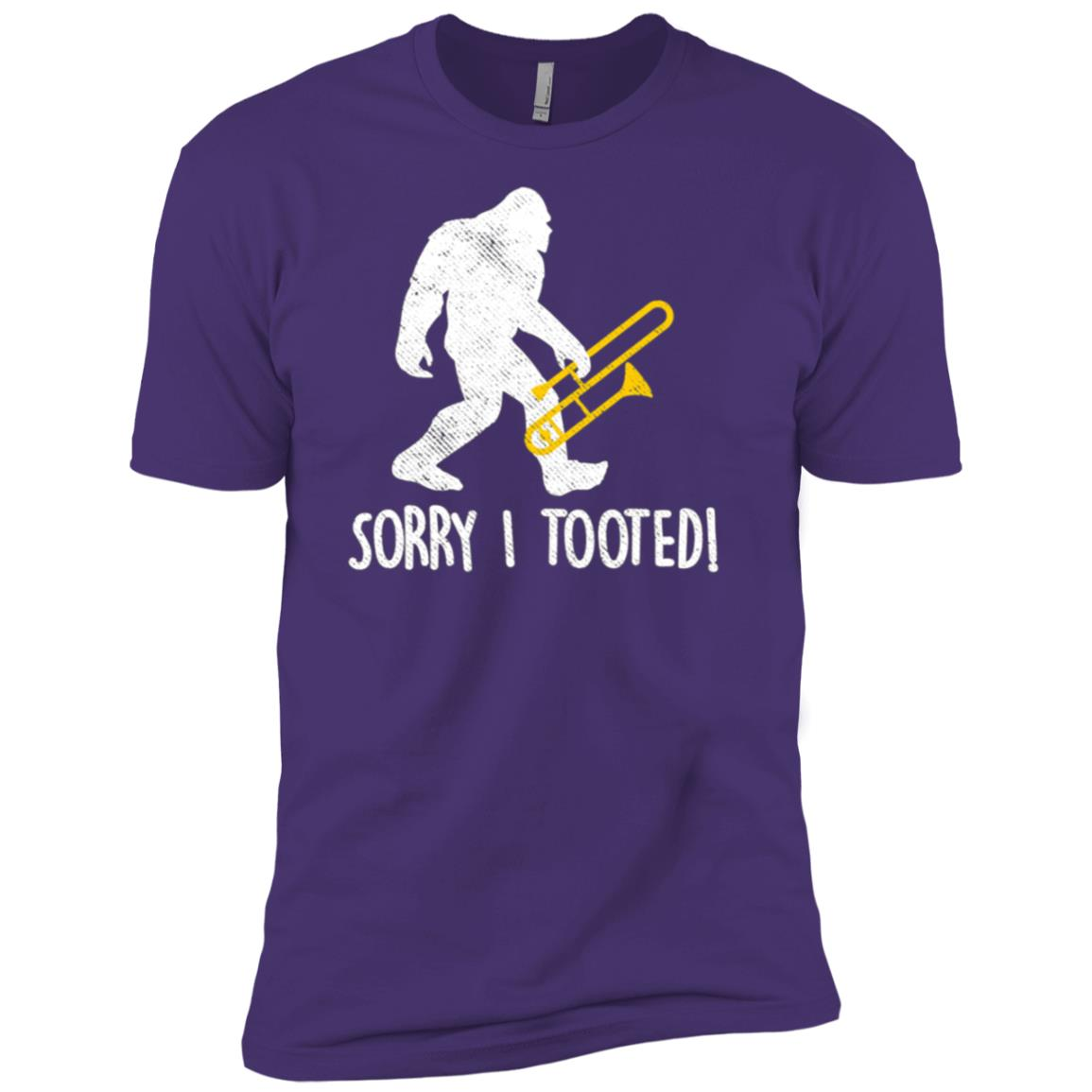 Funny Trombone Player Gift Sorry I Tooted Bigfoot Men Short Sleeve T-Shirt