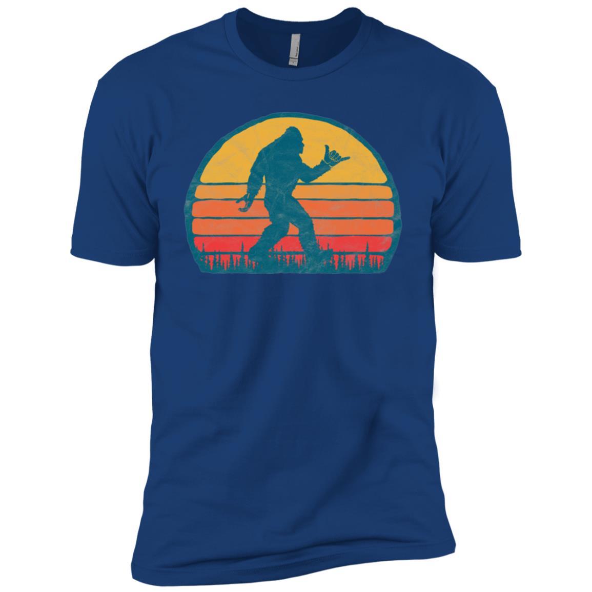 Funny Shaka Aloha Bigfoot Surfer – Believe Dude! Men Short Sleeve T-Shirt
