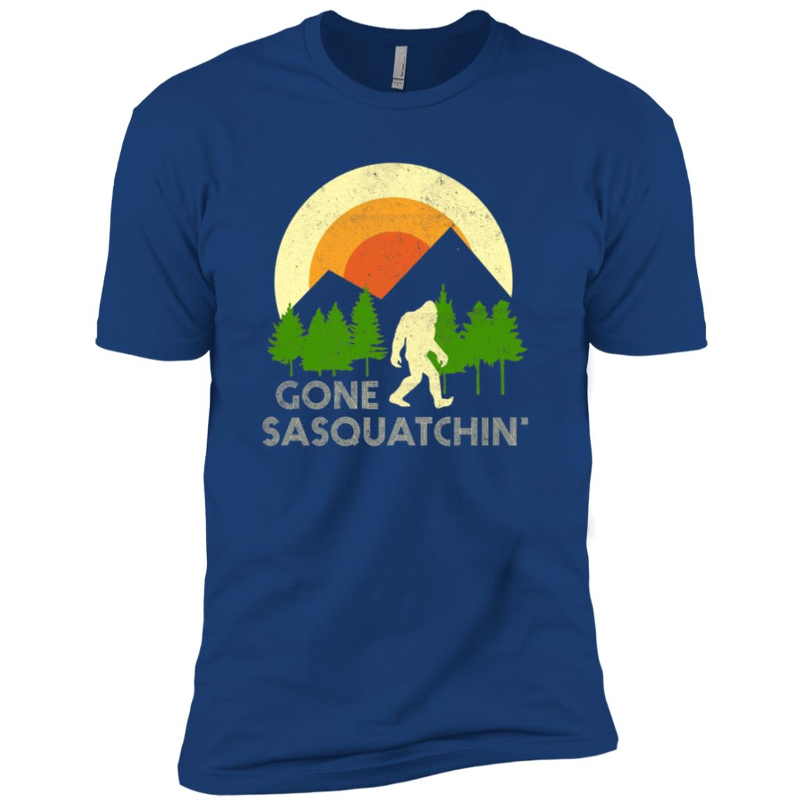 Funny Sasquatch Bigfoot Yeti Gift Men Short Sleeve T-Shirt