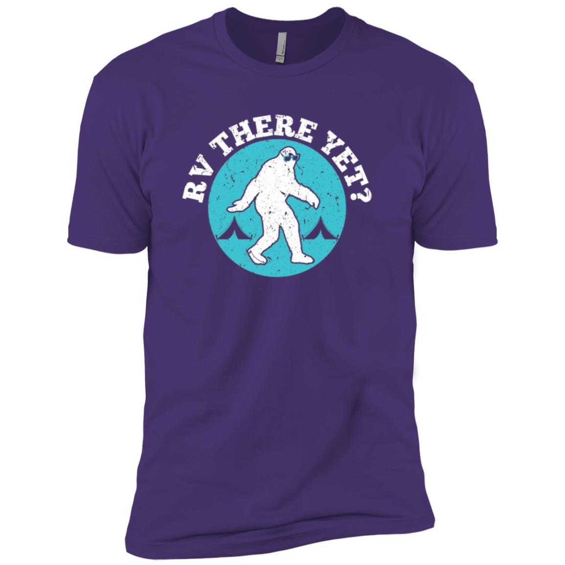 Funny RV There Yet Bigfoot Camping Men Short Sleeve T-Shirt