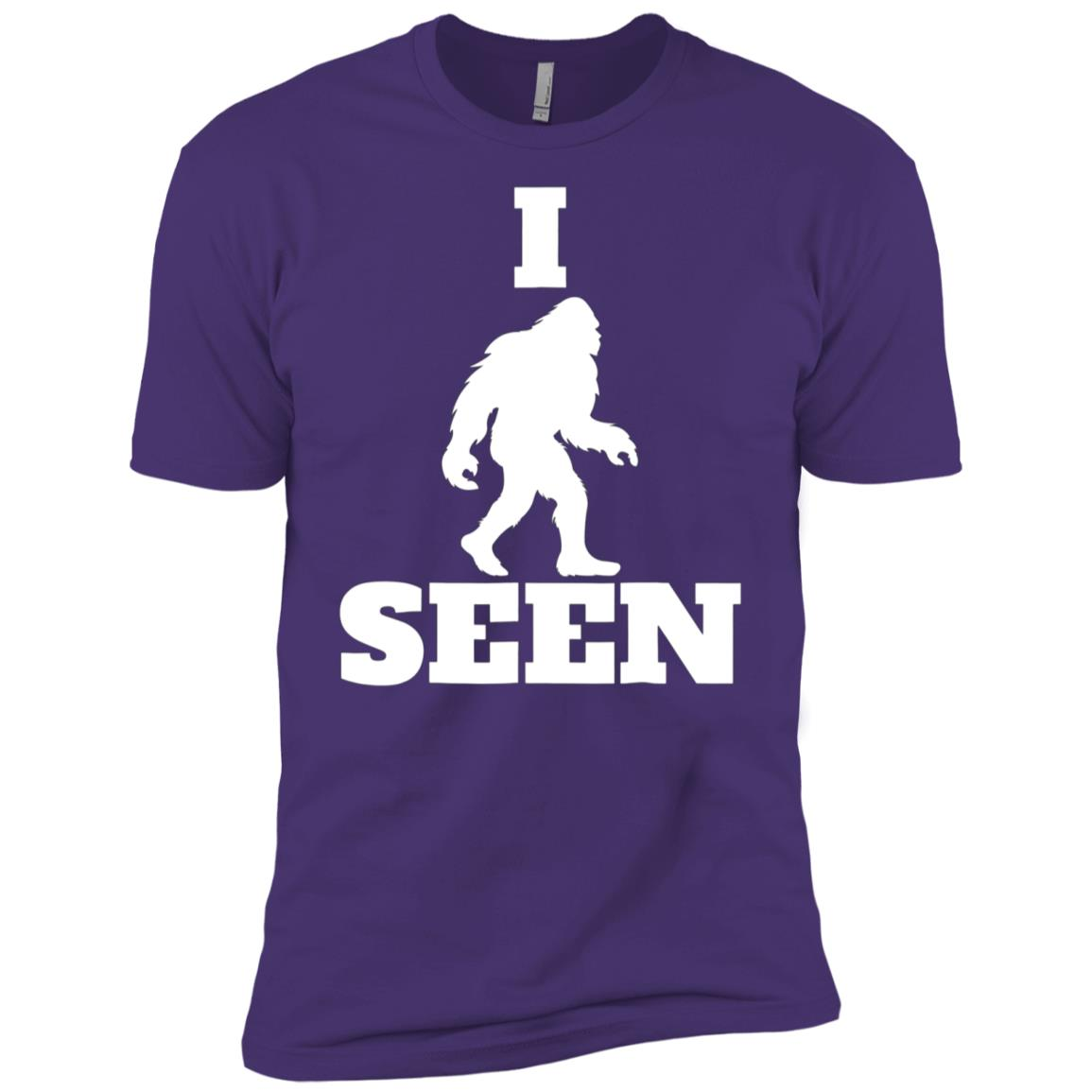 I Seen Bigfoot Bigfoot Believer Sasquatch Yeti Tee-1 Men Short Sleeve T-Shirt