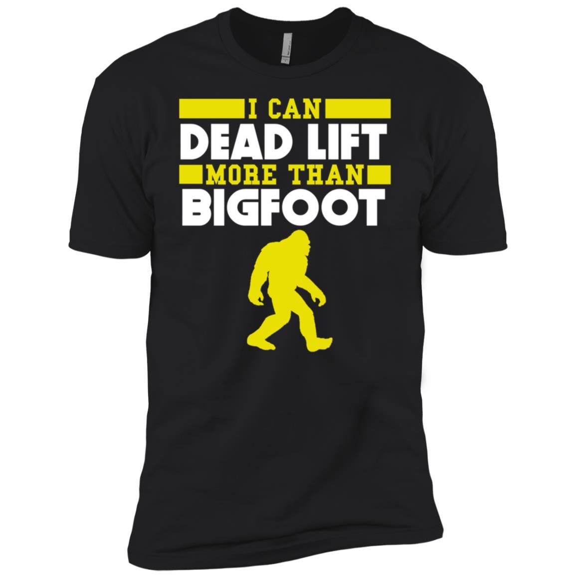 I Can Dead Lift More Than Bigfoot Funny -1 Men Short Sleeve T-Shirt