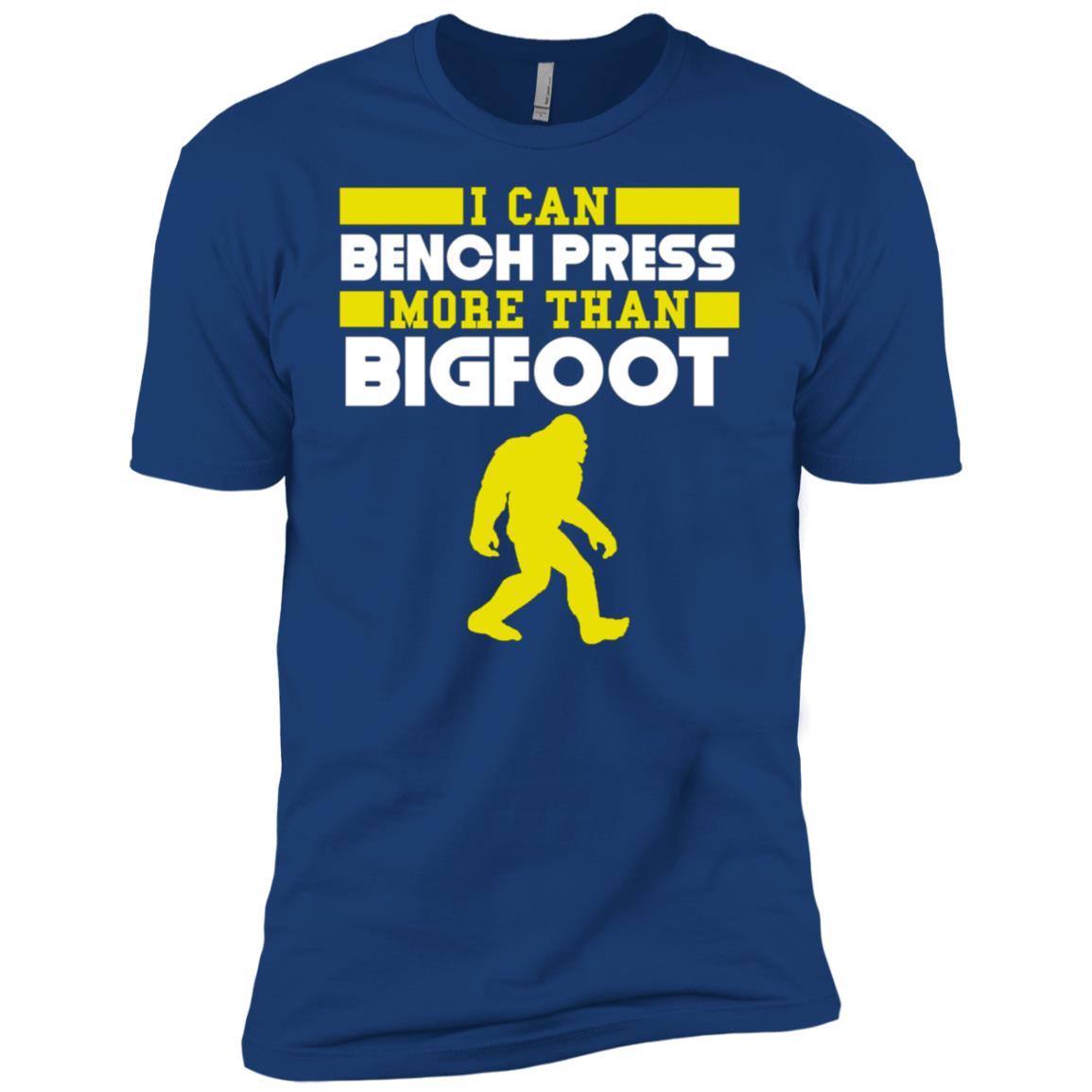 I Can Bench Press More Than Bigfoot Funny Men Short Sleeve T-Shirt