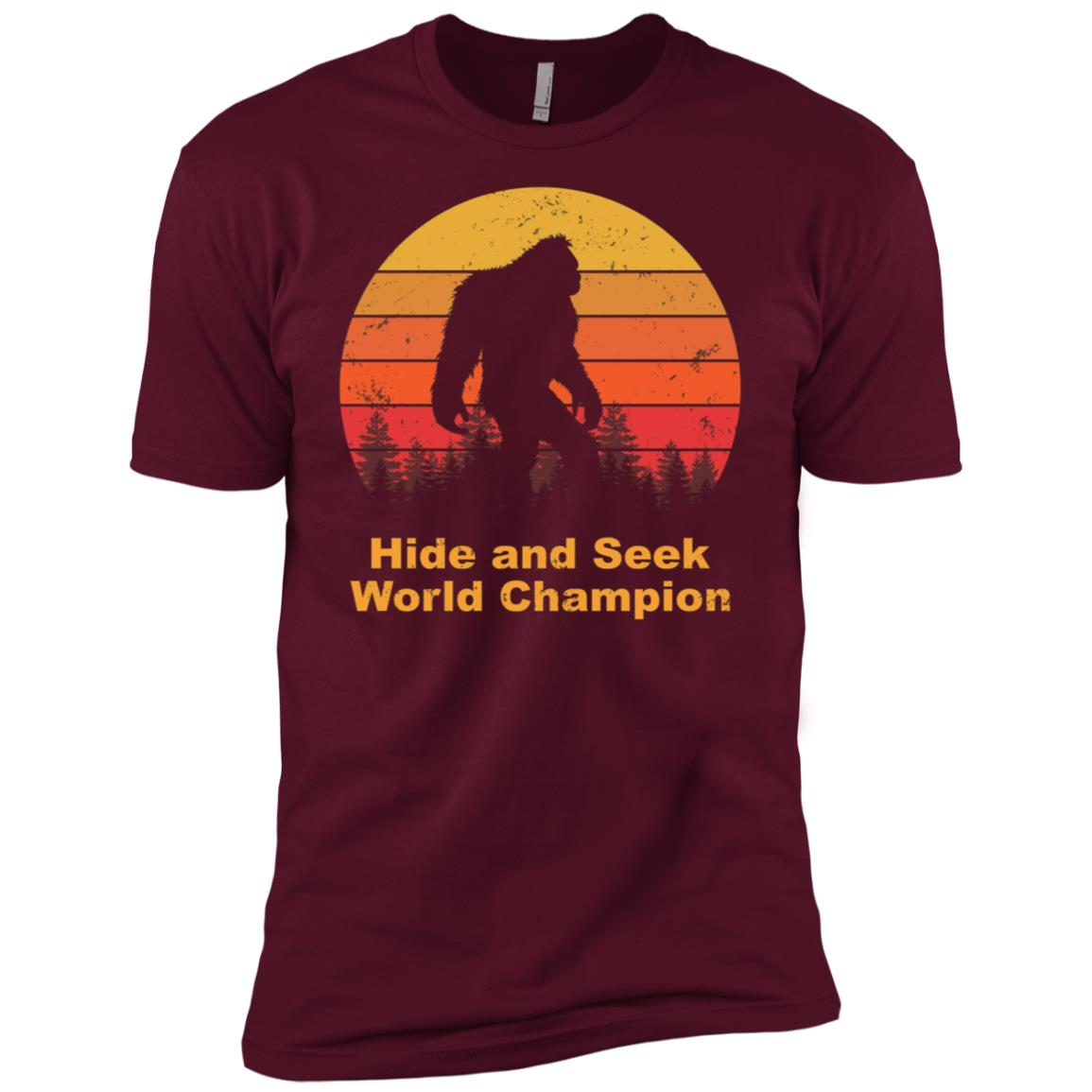Hide and seek champion bigfoot Funny Tee-1 Men Short Sleeve T-Shirt