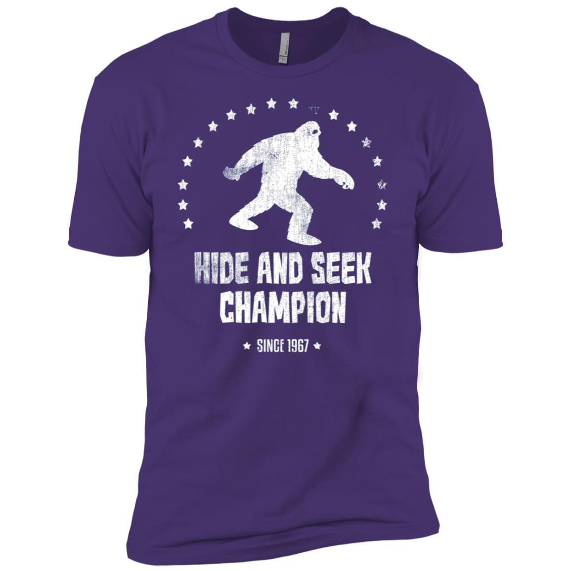 Hide And Seek Bigfoot Sasquatch 1967 Champion Long Men Short Sleeve T-Shirt