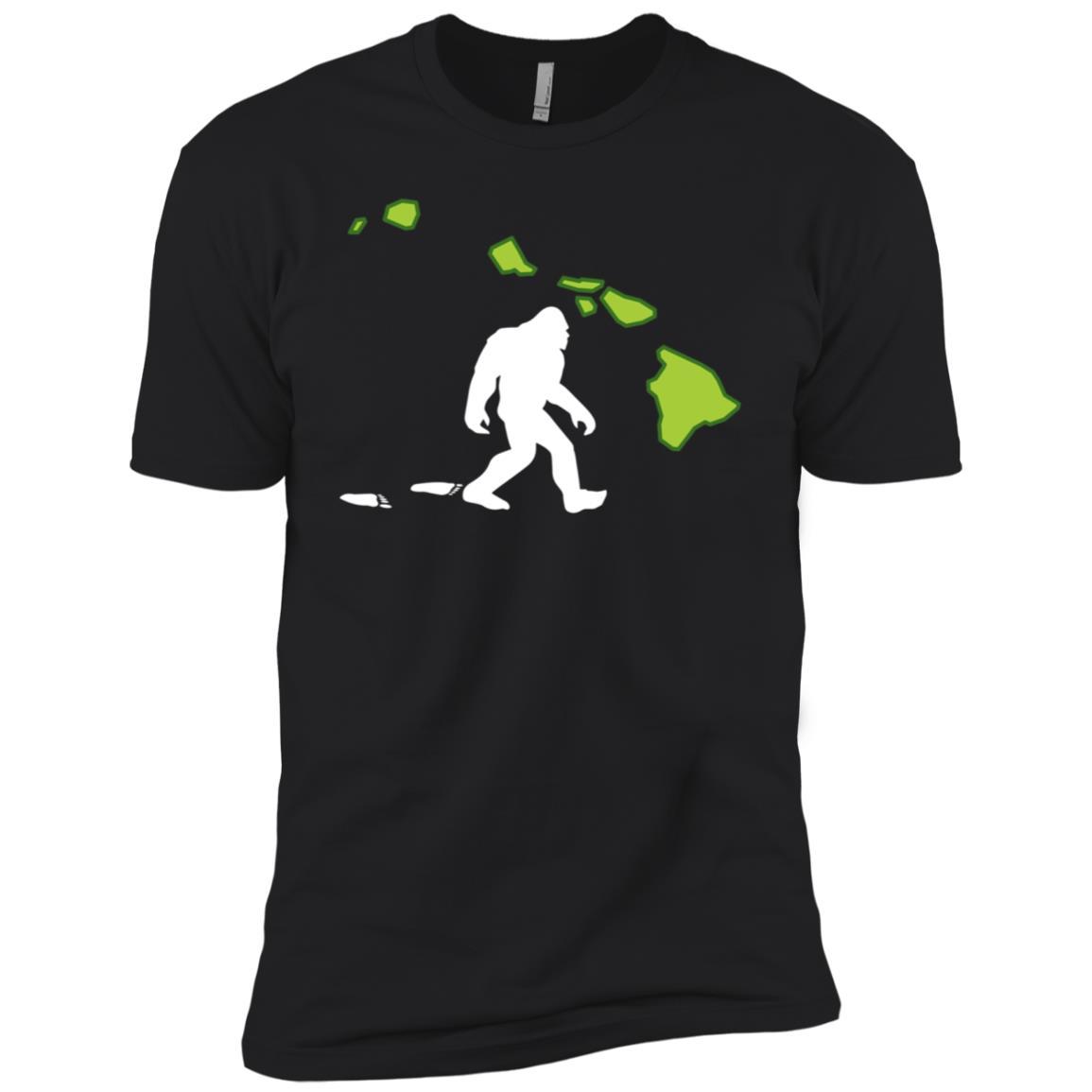 Hawaii State Bigfoot Hunter Men Short Sleeve T-Shirt