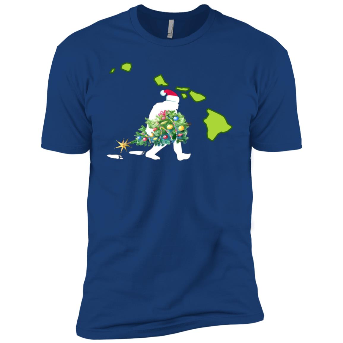 Hawaii Bigfoot State Christmas Tree Men Short Sleeve T-Shirt