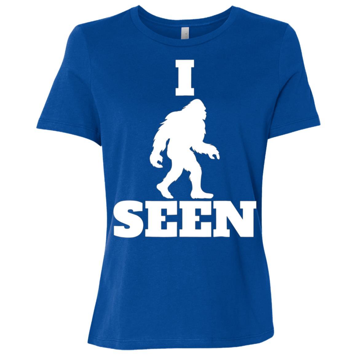 I Seen Bigfoot Bigfoot Believer Sasquatch Yeti Tee-1 Women Short Sleeve T-Shirt