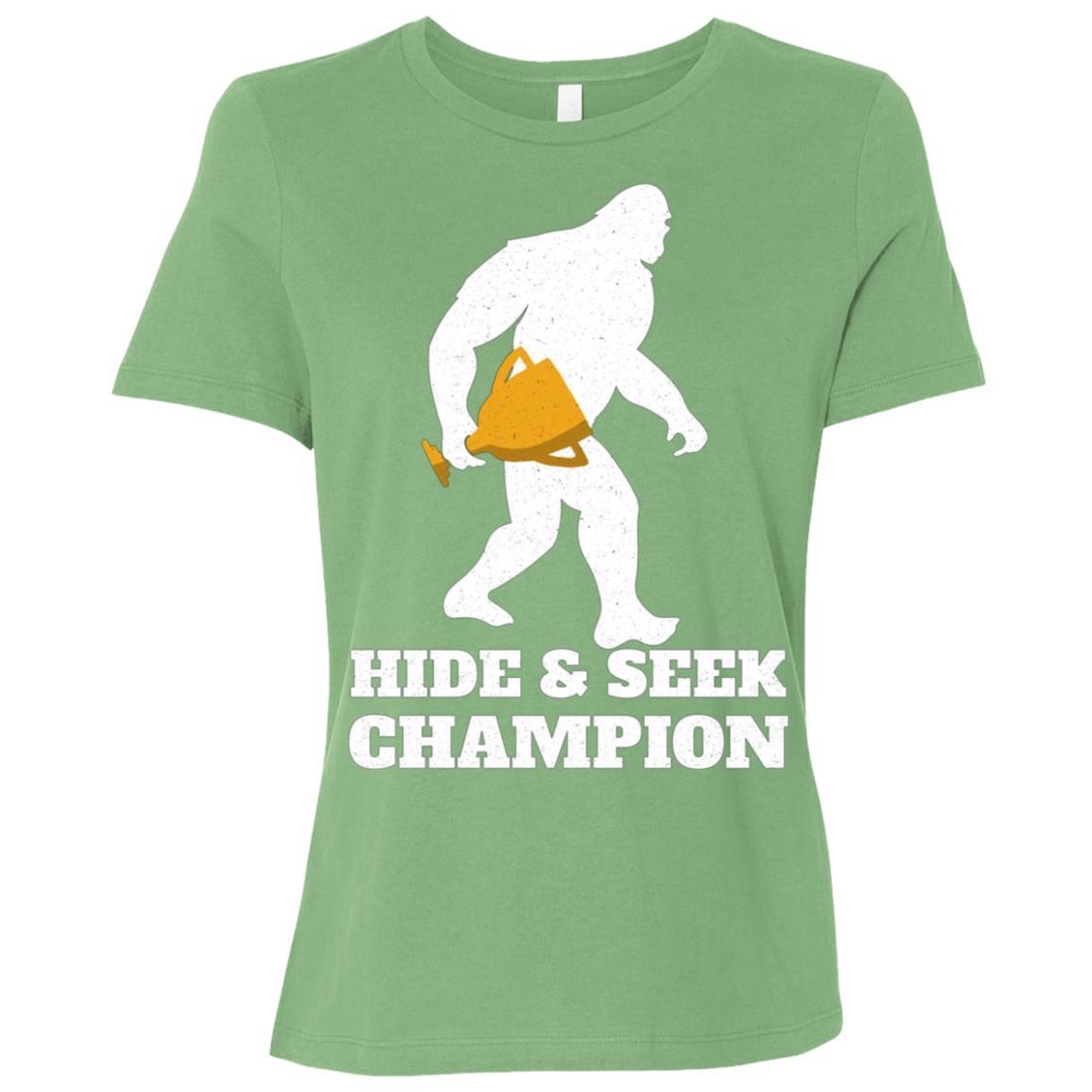 Hide And Seek Champion Sasquatch Bigfoot Gifts Women Short Sleeve T-Shirt