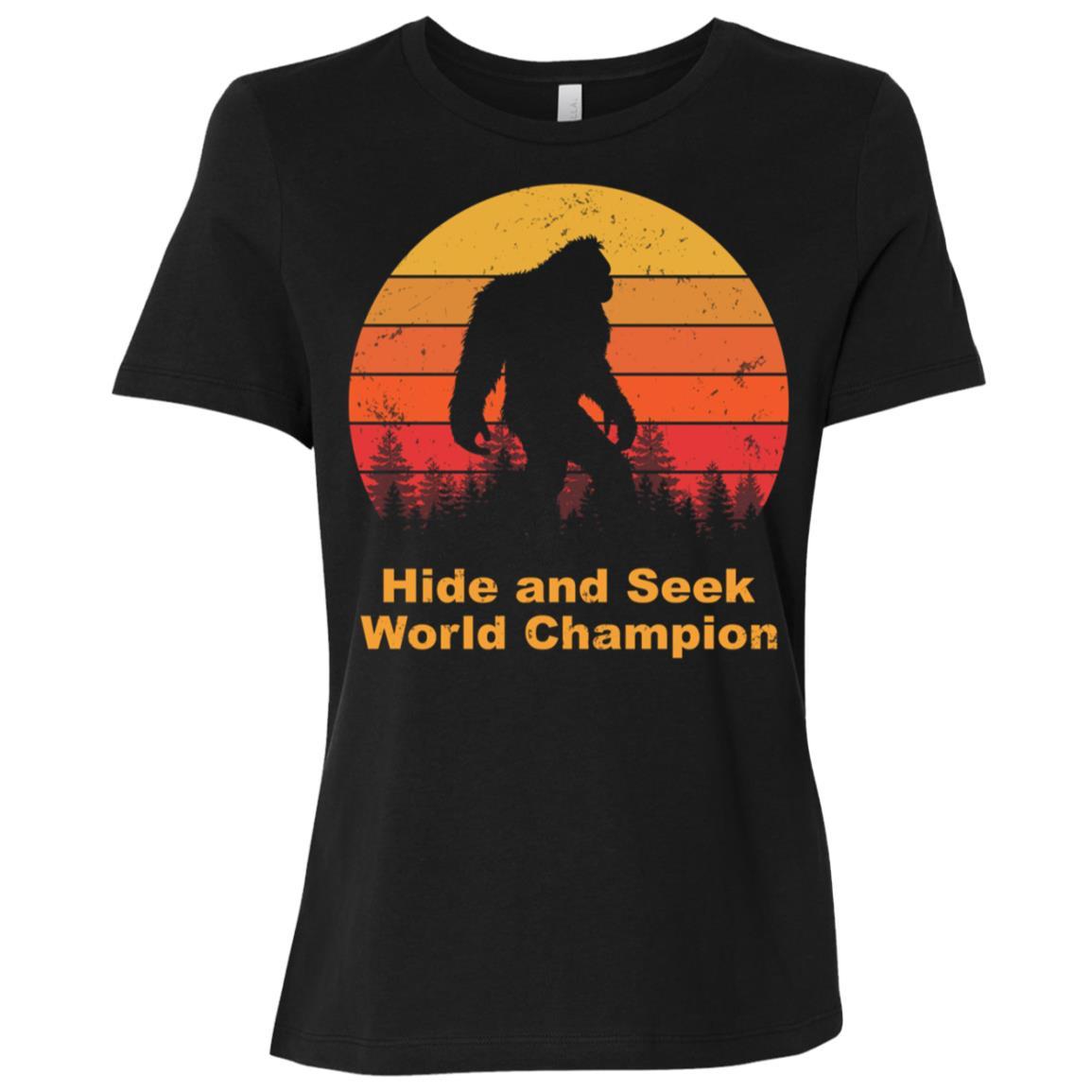 Hide and seek champion bigfoot Funny Tee-1 Women Short Sleeve T-Shirt