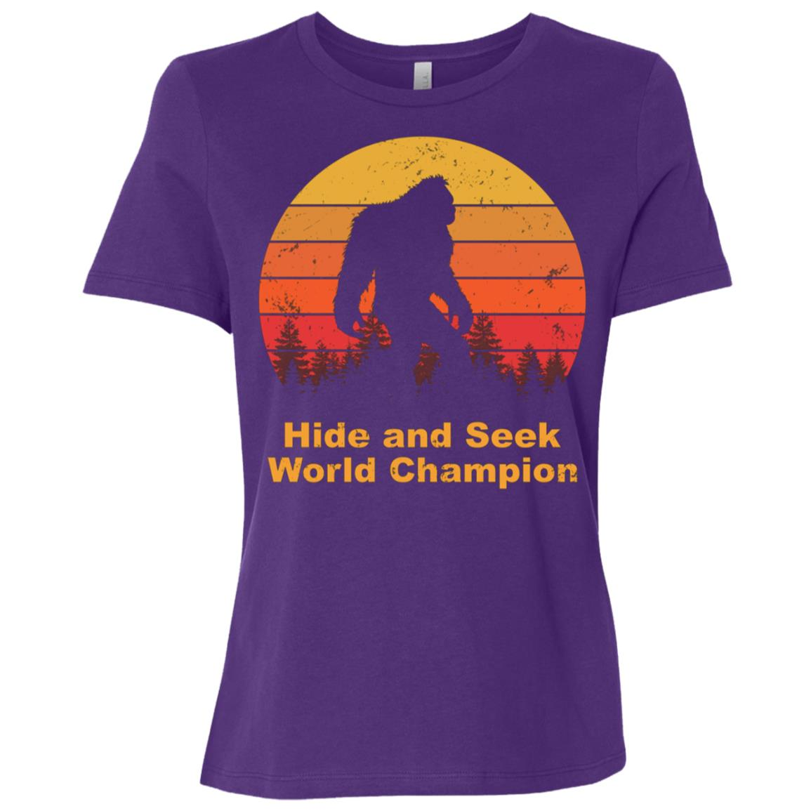 Hide and seek champion bigfoot Funny Tee-1 Women Short Sleeve T-Shirt