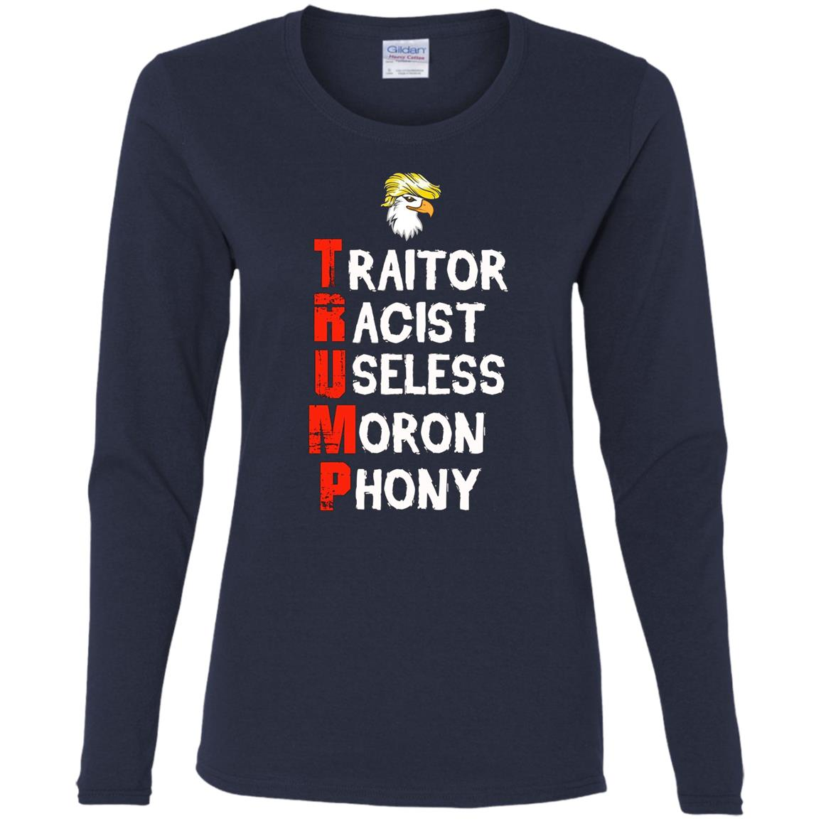 Anti Donald Trump – Save America Women Long Sleeve T-Shirt