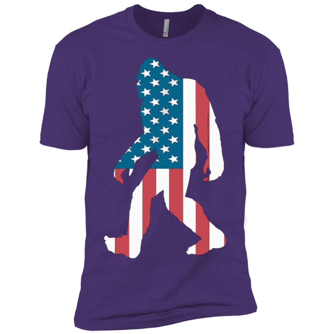 Kid Sasquatch Believe America Bigfoot Yeti USA Funny Men Short Sleeve T-Shirt