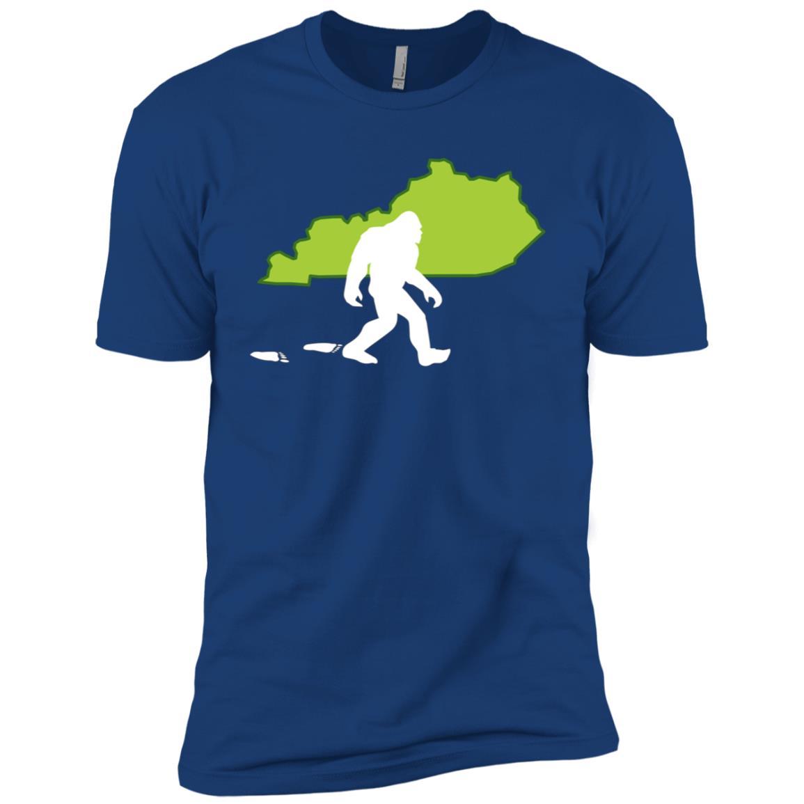 Kentucky State Bigfoot Hunter Men Short Sleeve T-Shirt