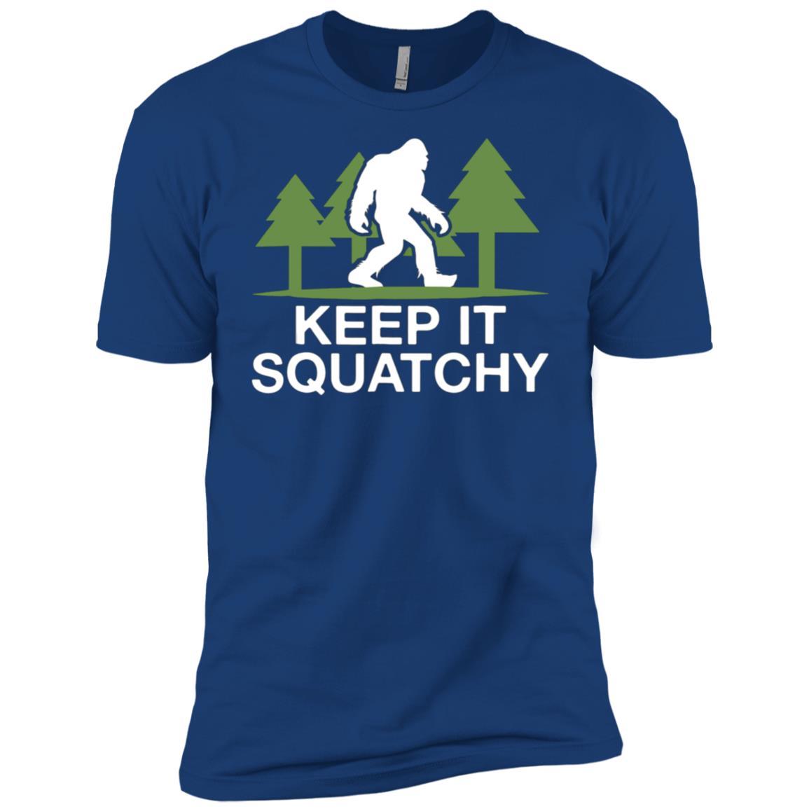 Keep It Squatchy Funny Bigfoot Men Short Sleeve T-Shirt