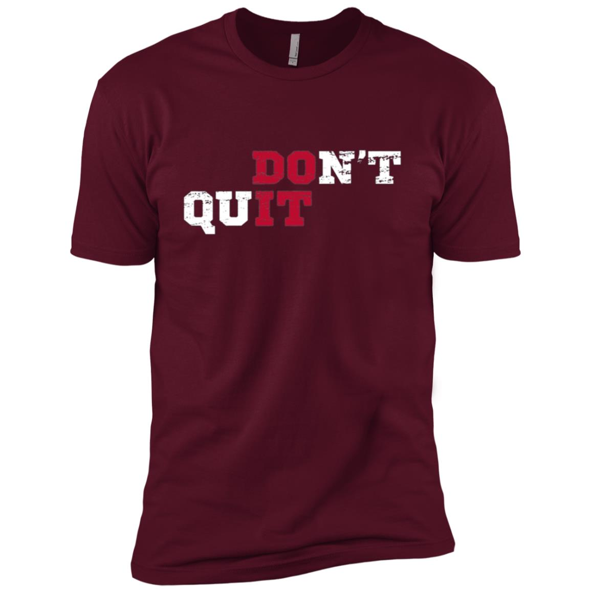 Don't Quit Do It Distressed Vintage Gym Running Men Short Sleeve T-Shirt