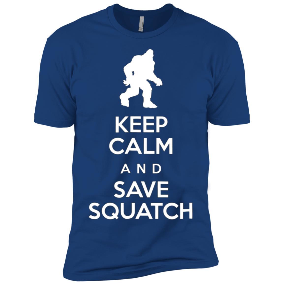 Keep Calm and Save Squatch Protect Bigfoot Yeti Men Short Sleeve T-Shirt