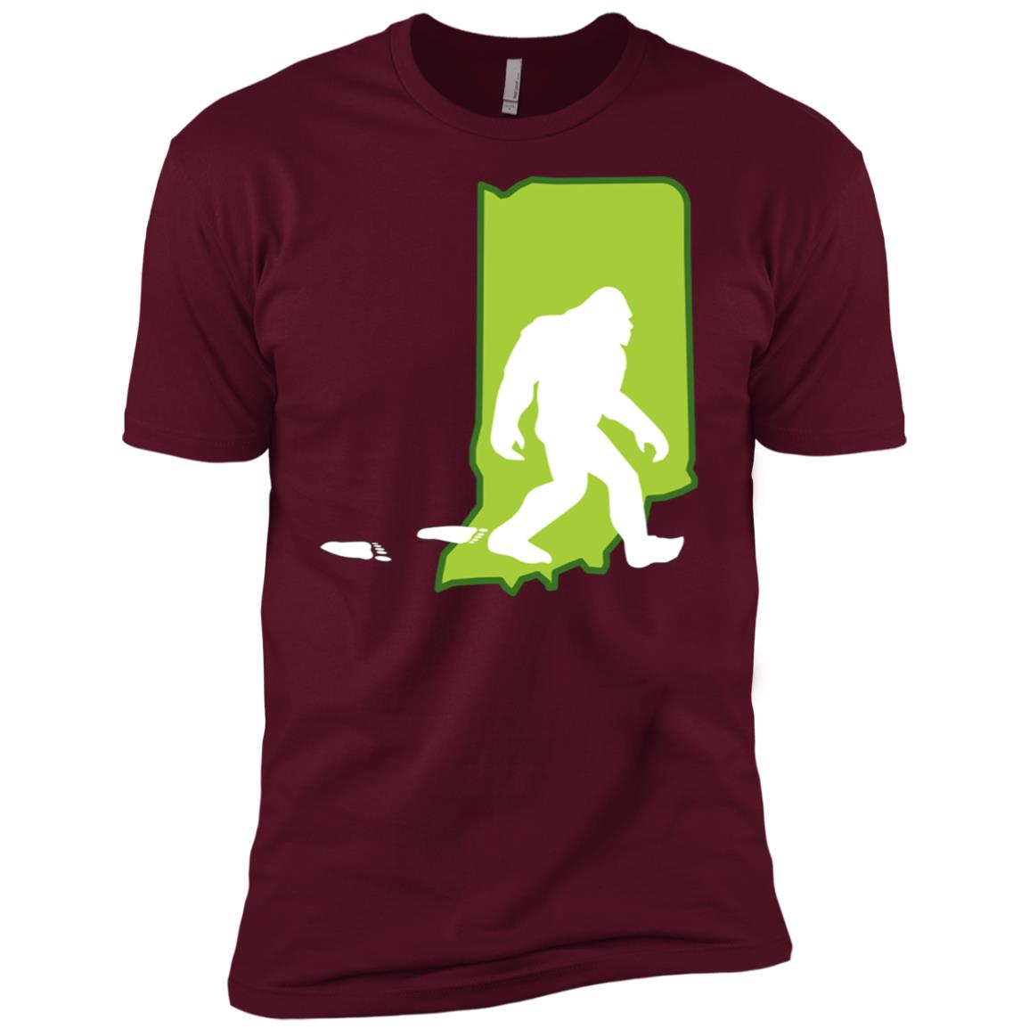 Indiana State Bigfoot Hunter Men Short Sleeve T-Shirt