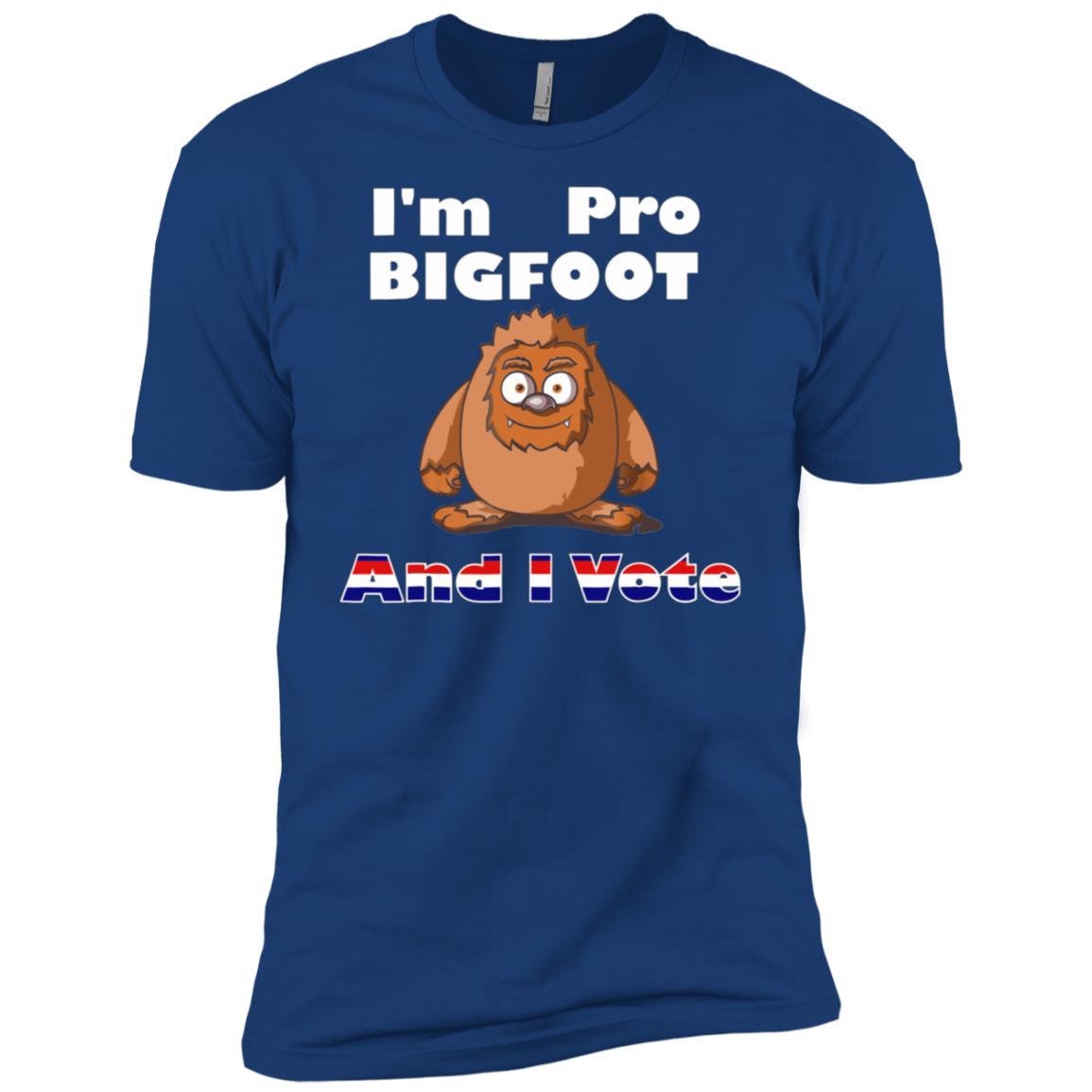 I'm Pro Bigfoot And I Vote Short Sleeve Men Short Sleeve T-Shirt