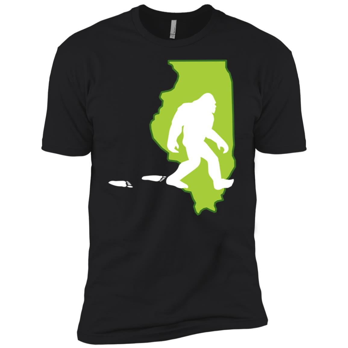 Illinois State Bigfoot Hunter Men Short Sleeve T-Shirt