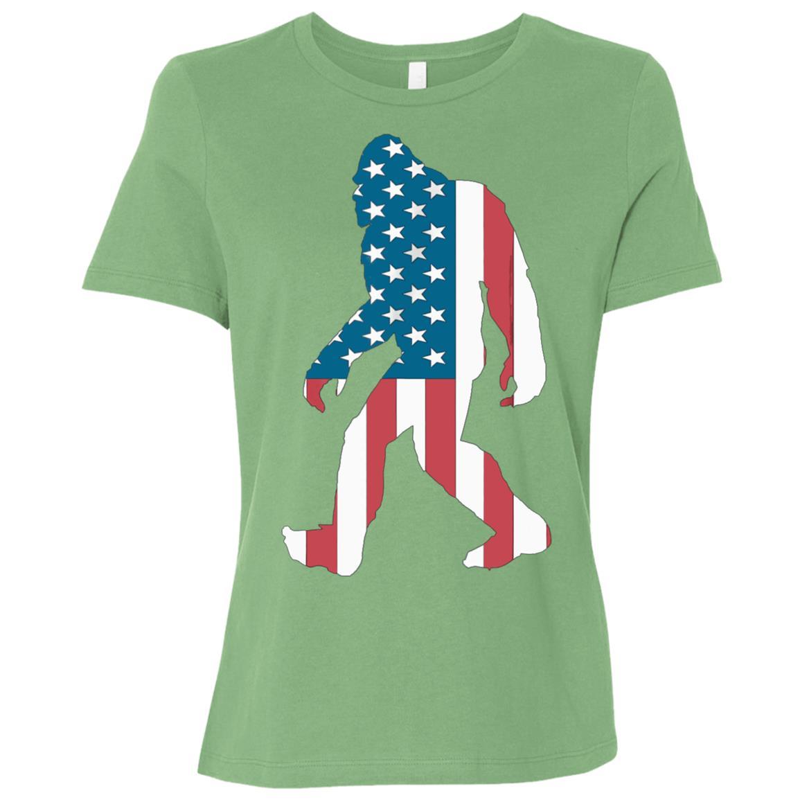 Kid Sasquatch Believe America Bigfoot Yeti USA Funny Women Short Sleeve T-Shirt
