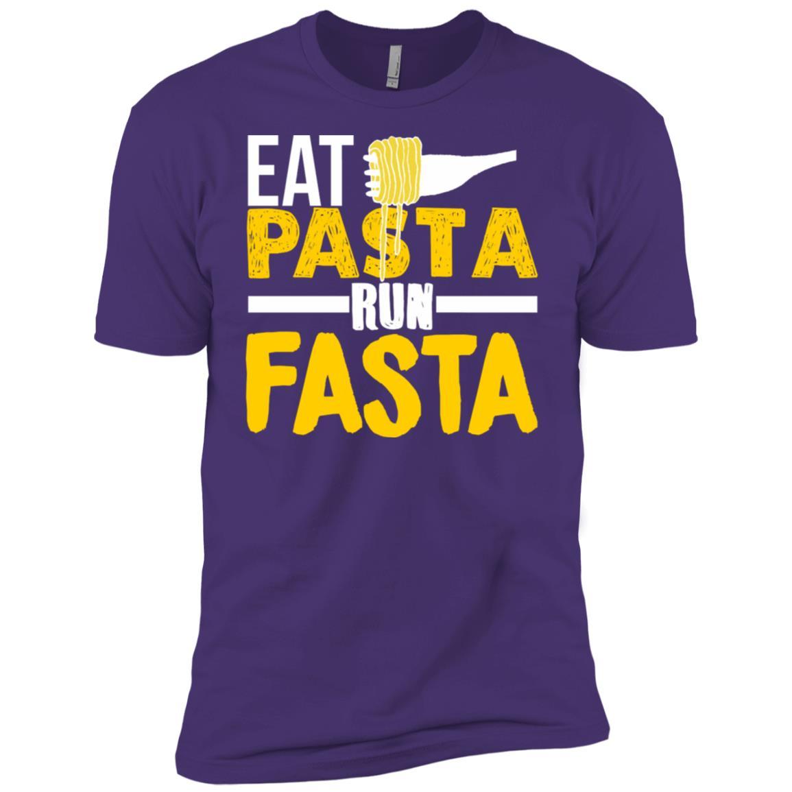 Eat Pasta Run Fasta Funny Running Men Short Sleeve T-Shirt
