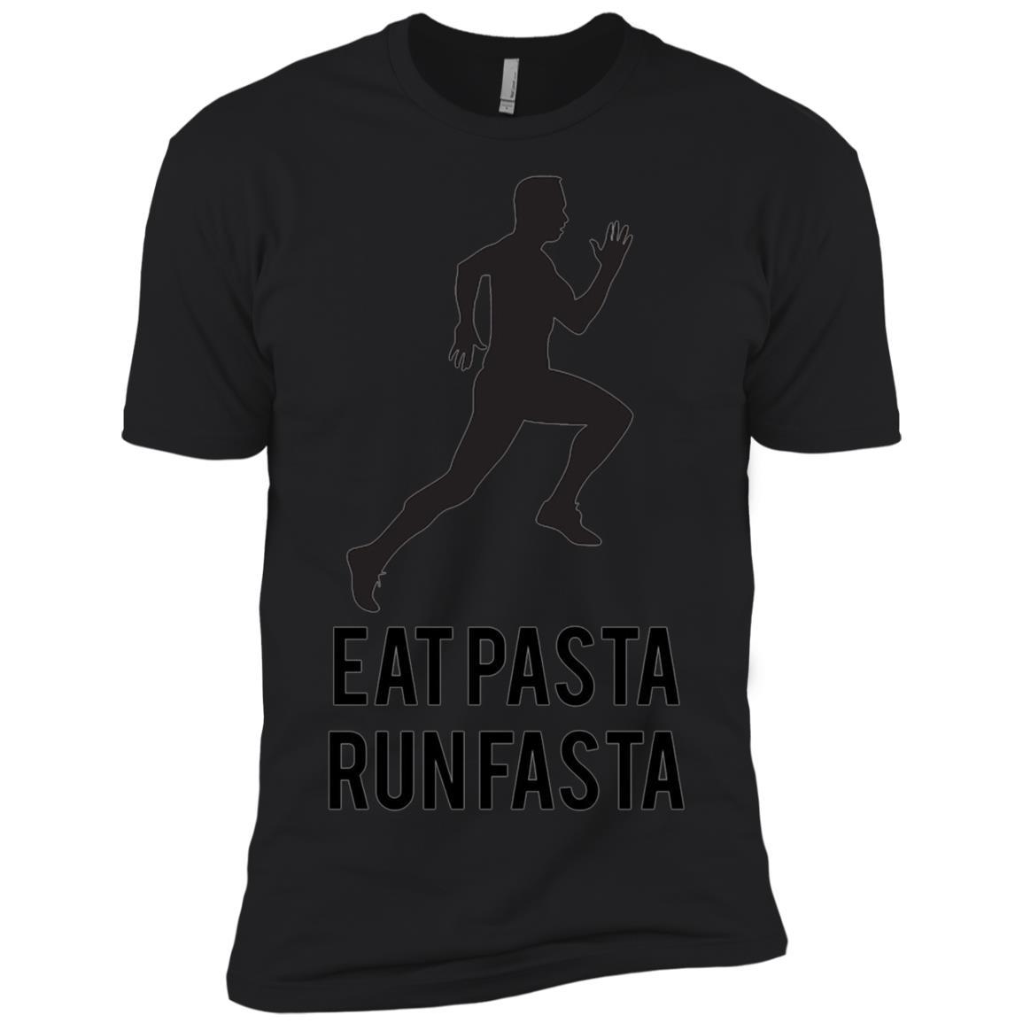 Eat Pasta Run Fasta Fun Running Gift for Athletes Men Short Sleeve T-Shirt
