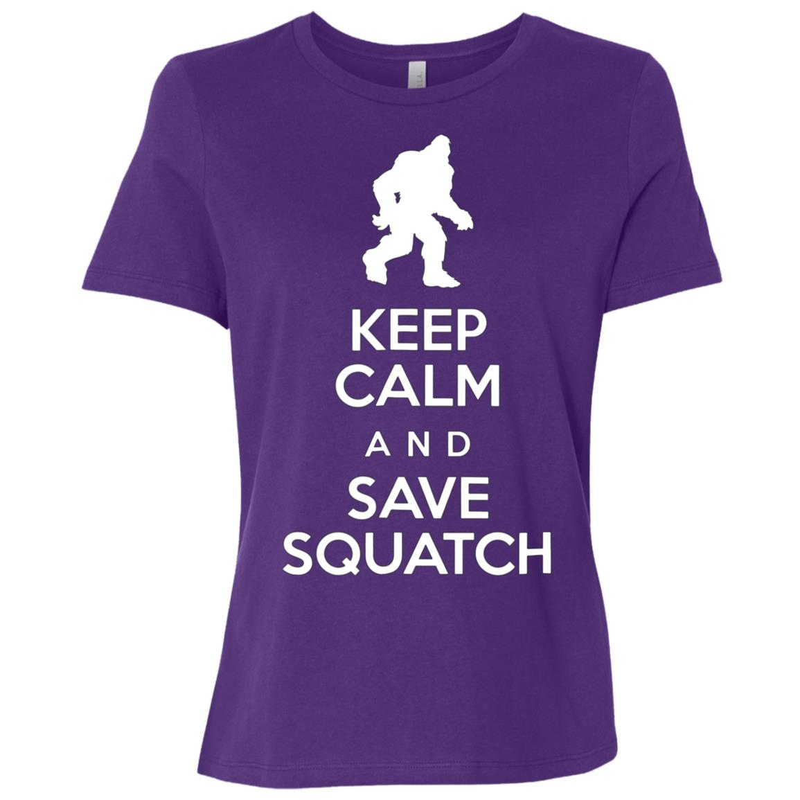 Keep Calm and Save Squatch Protect Bigfoot Yeti Women Short Sleeve T-Shirt