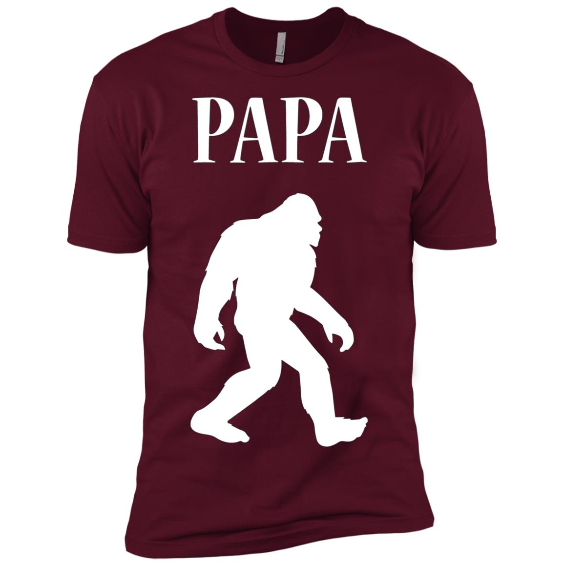 Mens PAPA BEAR SHIRT BIGFOOT FATHERS, DAD, DAD'S BIRTHDAY GIFT Men Short Sleeve T-Shirt
