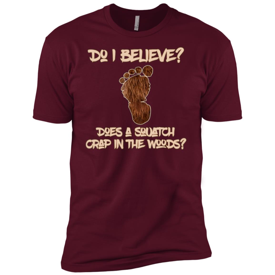 Mens Funny Believers Bigfoot Sasquatch Yeti Search Men Short Sleeve T-Shirt