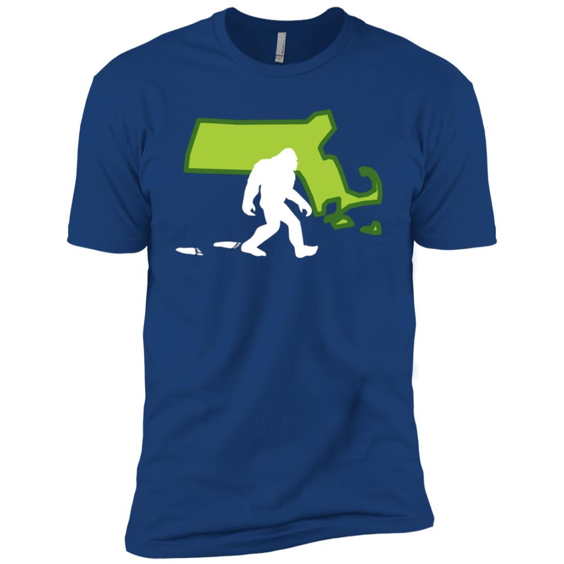 Massachusetts State Bigfoot Hunter Men Short Sleeve T-Shirt