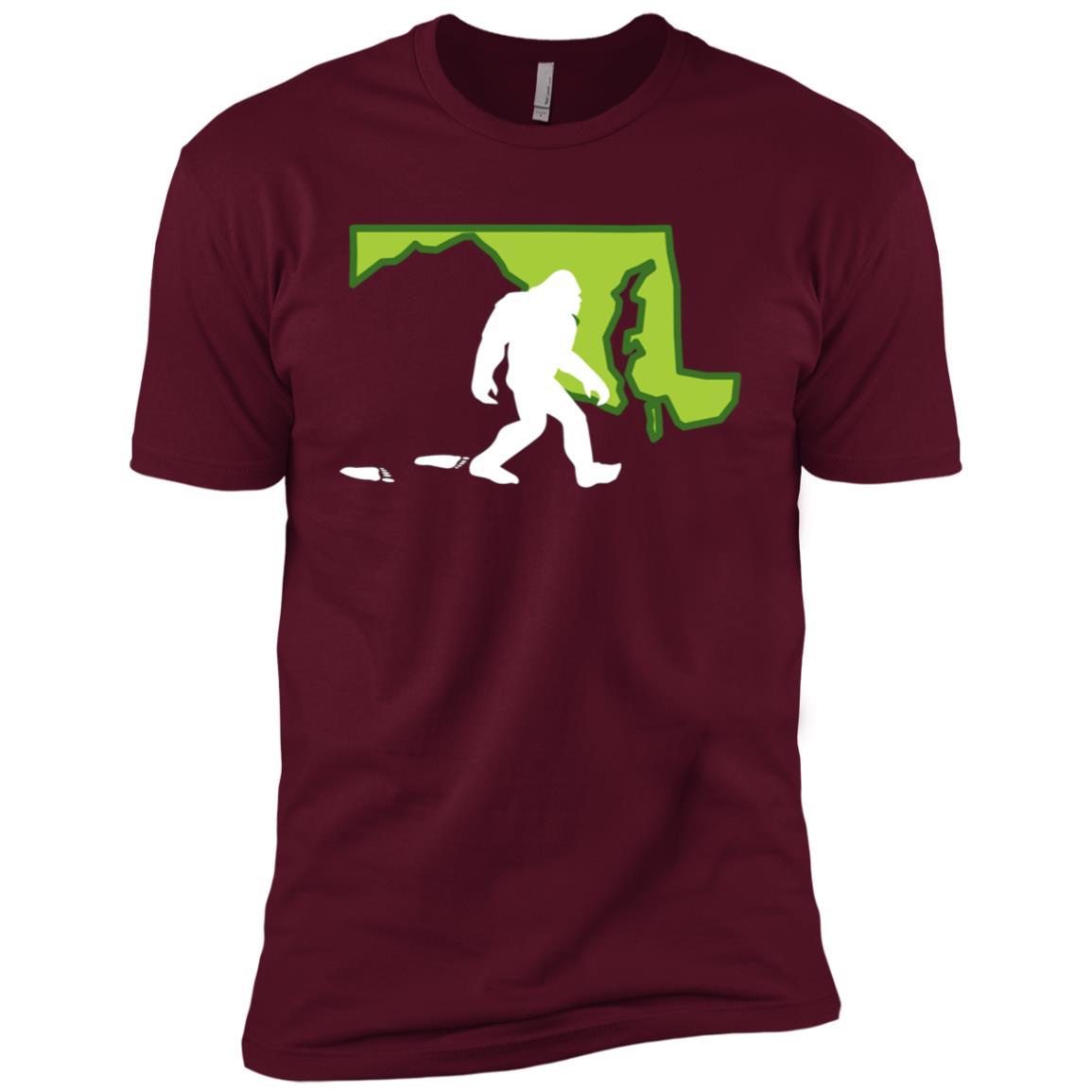 Maryland State Bigfoot Hunter Men Short Sleeve T-Shirt