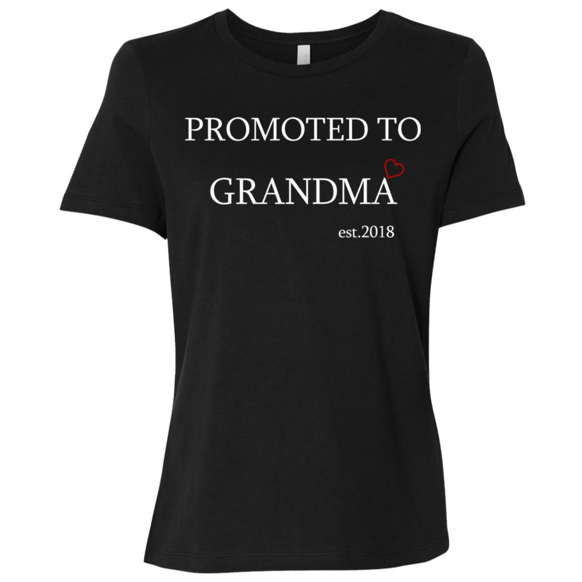Promoted to grandma 2018 Women Short Sleeve T-Shirt
