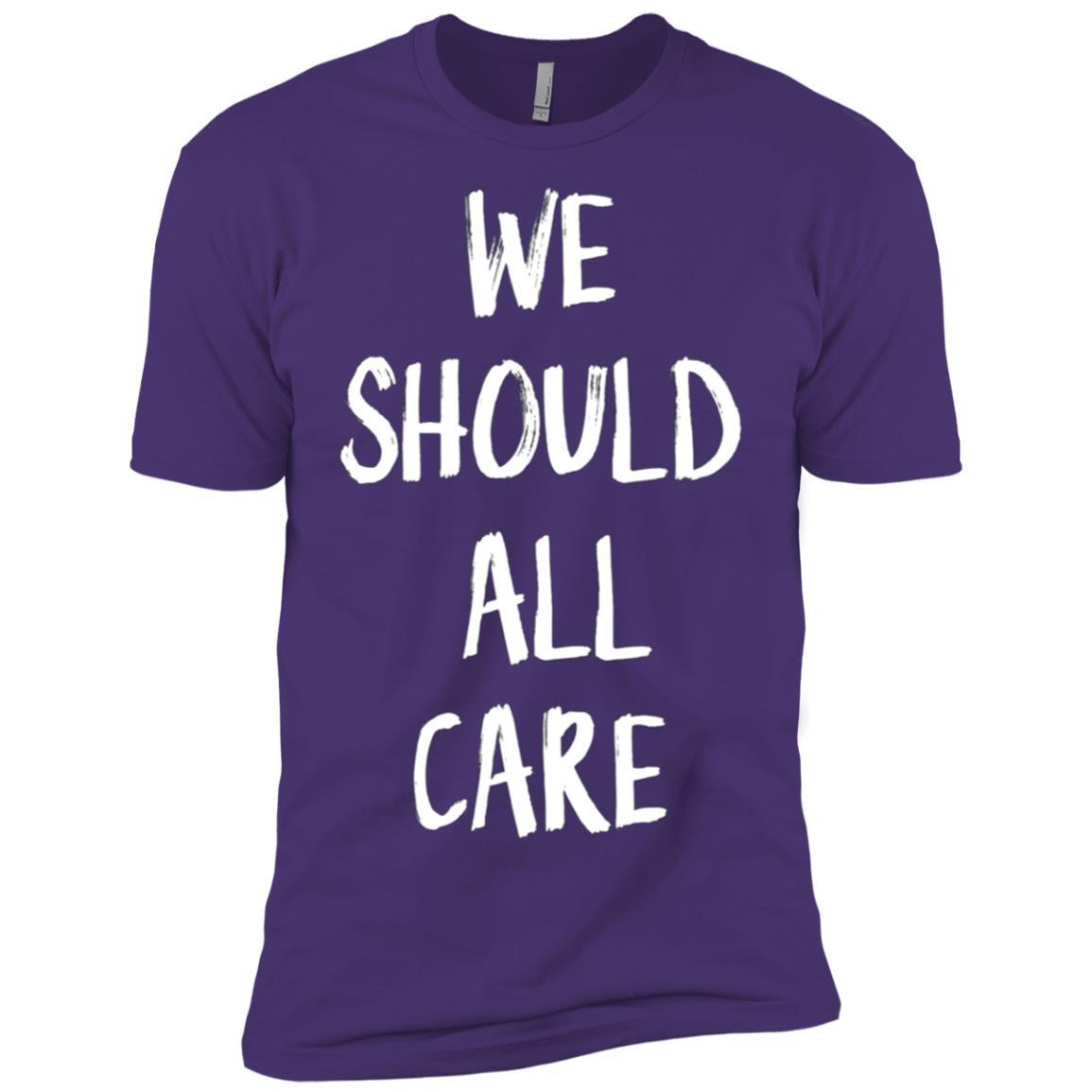 We Should All Care – I Really Do Care Men Short Sleeve T-Shirt
