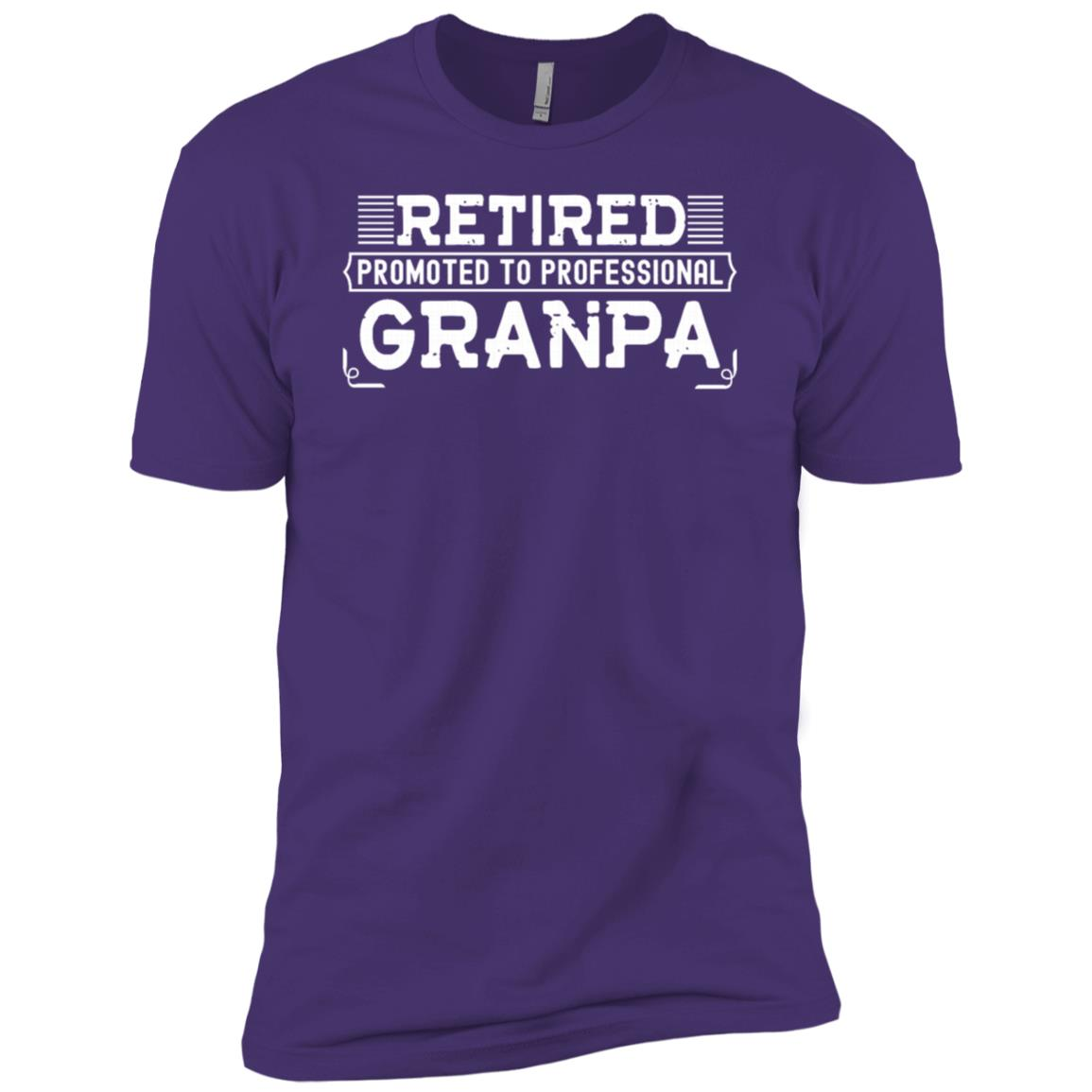 Retired Promoted To Professional Grandpa Men Short Sleeve T-Shirt