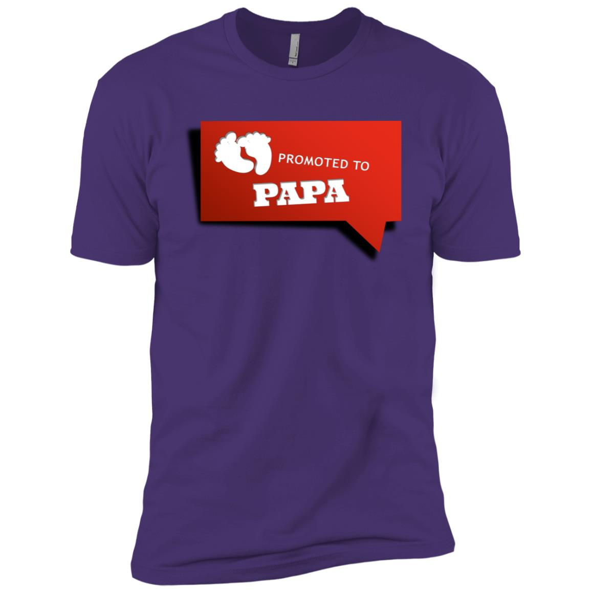 Promoted To Papa Funny Is A Cute New Grandpa Gift Men Short Sleeve T-Shirt