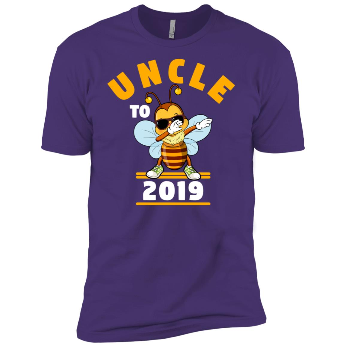 Uncle To Be 2019 Dabbing Bee Men Short Sleeve T-Shirt
