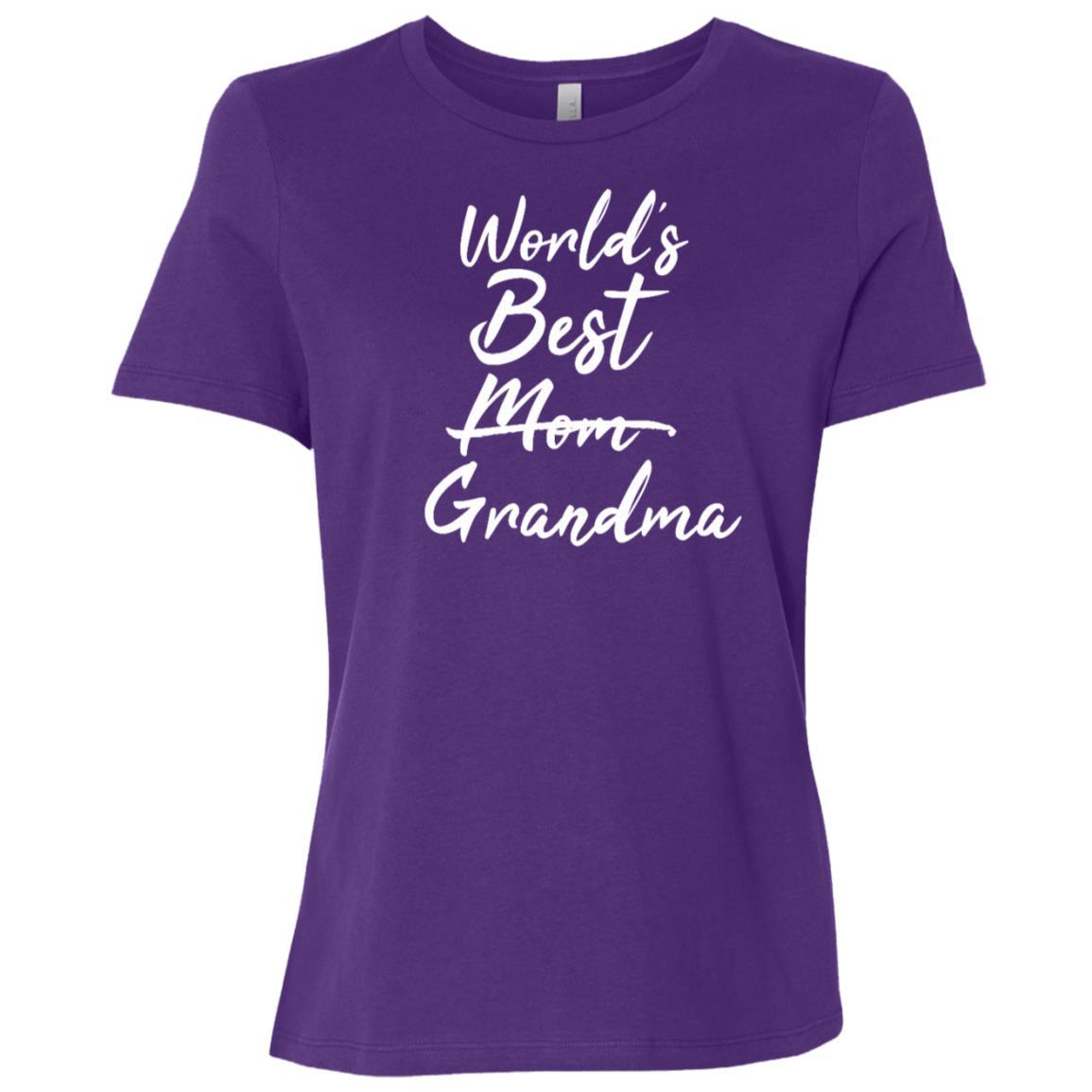 World's Best MomGrandma Promoted Announcement Women Short Sleeve T-Shirt