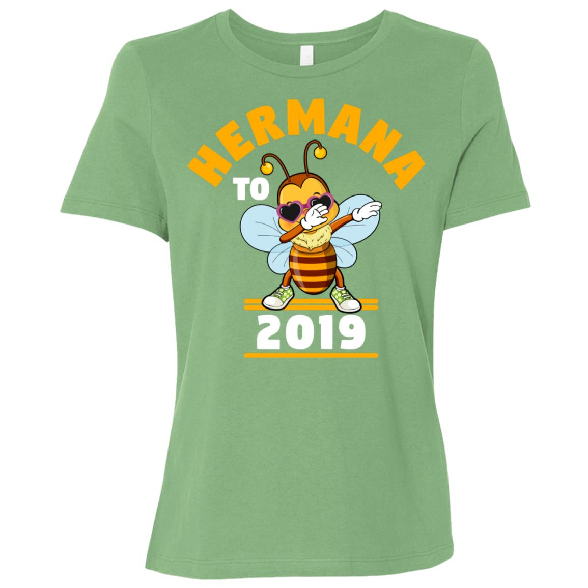 Sister To Be 2019 Hermana Dabbing Bee Women Short Sleeve T-Shirt