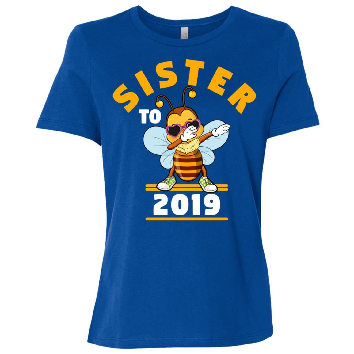Sister To Be 2019 Dabbing Bee Women Short Sleeve T-Shirt