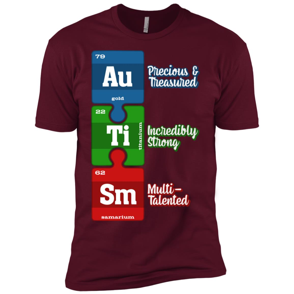 Autism Periodic Table Awareness Month Gift-1 Men Short Sleeve T-Shirt