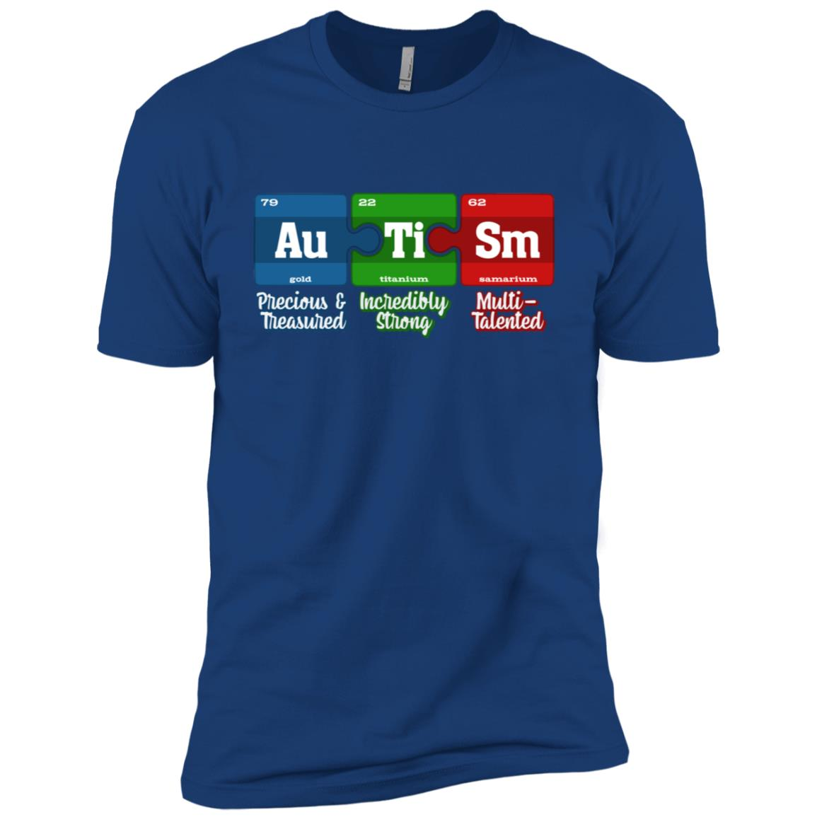 Autism Periodic Table Awareness Month Gift Men Short Sleeve T-Shirt