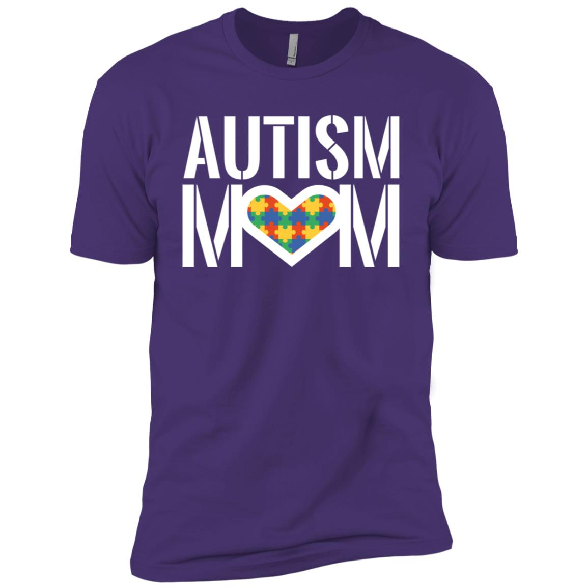 Autism Mom – Heart with Autism Puzzle Men Short Sleeve T-Shirt